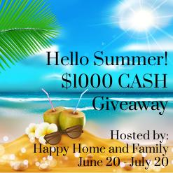 ENTER TO WIN $1000 IN THE HELLO SUMMER GIVEAWAY