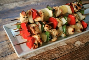 Grilled Pineapple Chicken Kebabs