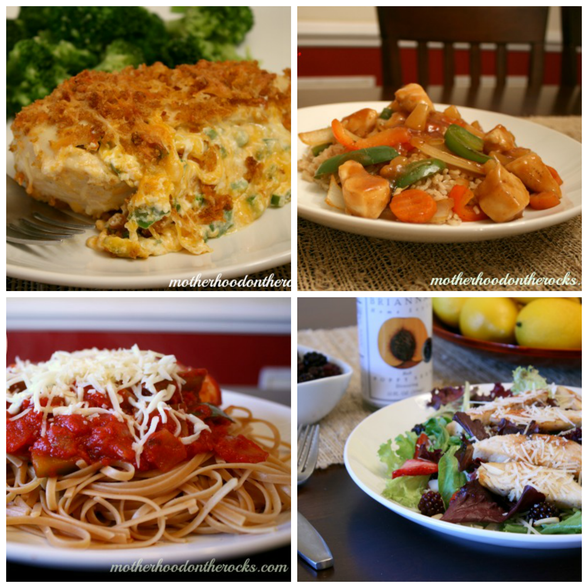 recipes collage
