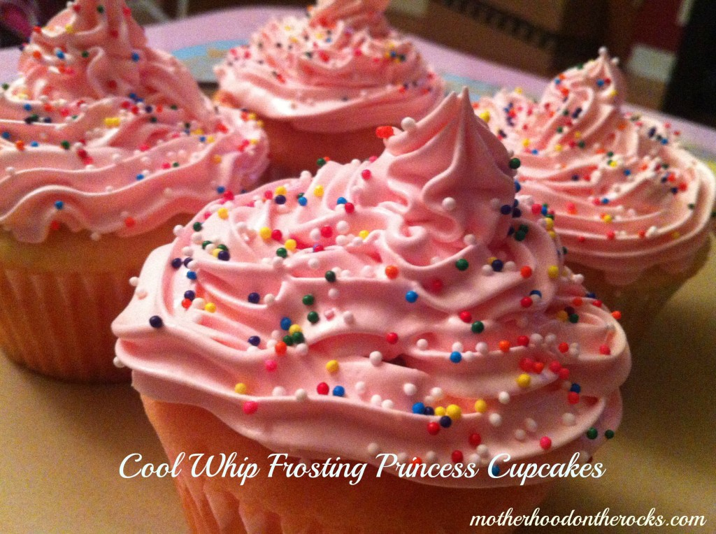Cool Whip Frosting Princess Cupcakes