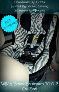 Britax Boulevard 70 G-3 Car Seat Giveaway