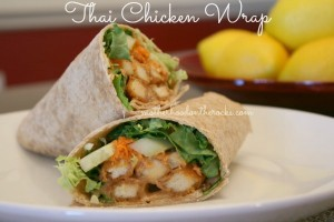 Thai Chicken Wrap with Tyson Chicken Fries