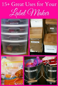 15 Tips to Organize Your Life with a Label Maker #Ptouch25